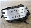 Hers and Hers Bracelets, Set of 2 Leather Wraps