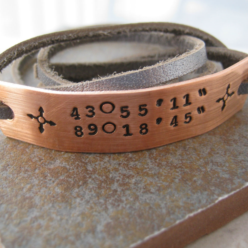 latitude p longitude custom latlong htm alternative bracelet views blw silcop copper