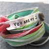 You Are My Anchor Ribbon Wrap Bracelet
