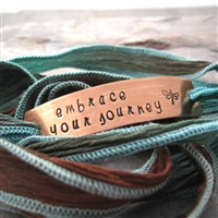 Embrace Your Journey Bracelet, wrap bracelet