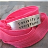 Positivity in Everything Bracelet, silk ribbon wrap