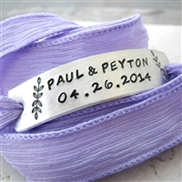 Twins Mother's Bracelet, personalized ribbon wrap