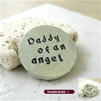 Personalized Daddy of an Angel Pocket Coin