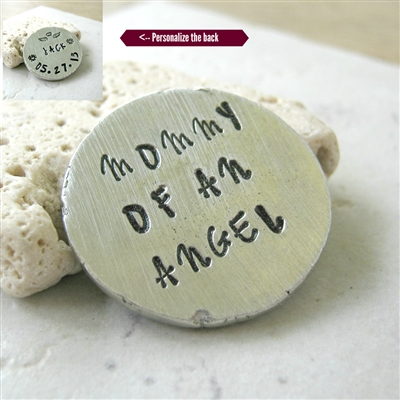 Personalized Mommy of an Angel Pocket Coin