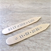 Best Day Ever Collar Stays, Groom's Gift, Anniversary date