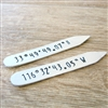 Personalized Lat Long Collar Stays, GPS Coordinates Collar Stays