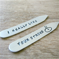 Funny Golf Collar Stays, I Really Like Your Stoke
