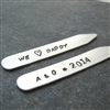 We Love Daddy Personalized Collar Stays