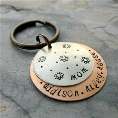 Personalized Flower Power Key Chain