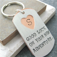 Going Away Gift Personalized Keychain, 2 layers, secret message
