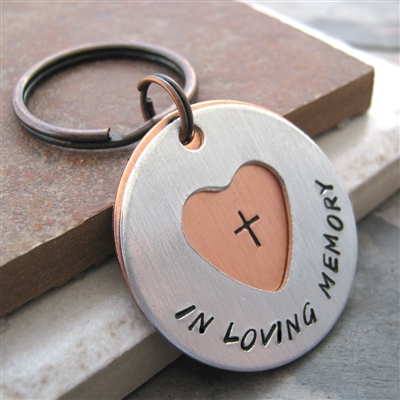Personalized Memorial Key Chain, 2 Layers, In Loving Memory