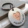 Personalized Secret Message Couples Keychain