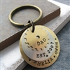 Father's Personalized Key Chain, 3 Layers with Gear