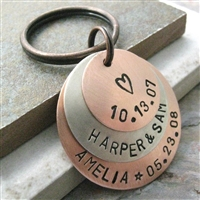 Personalized Key Chain, 3 Layers