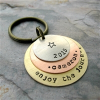 Personalized Graduation Key Chain, 3 Layers, Option 9
