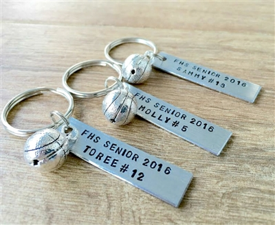 Personalized Basketball Key Chains