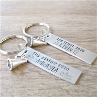 Personalized Cheerleading Key Chain