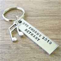 Personalized Chorus keychains, Seniors gifts