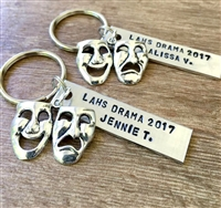 Personalized Drama keychains, Seniors gifts