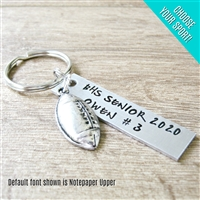 Personalized Football Key Chain, Choose your sport