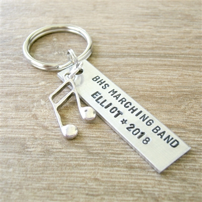 Personalized Marching Band Keychain, Seniors gifts