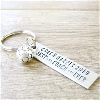 Personalized Soccer Coach Key Chain
