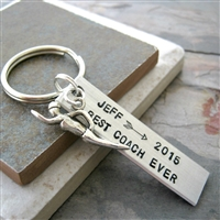 Personalized Swim Coach Key Chain