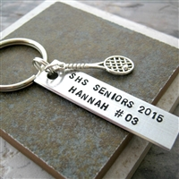 Personalized Tennis Key Chain