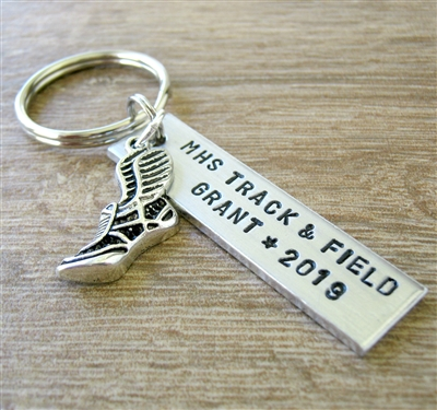 Personalized Track Key Chain