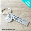 Personalized Volleyball Key Chain, Choose your sport