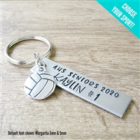 Personalized Sports Key Chain, Choose your sport