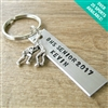 Personalized Wrestling Key Chain