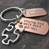 Personalized You're the Best Part of Me Key Chain