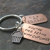 Personalized You're the Icing on My Cupcake Key Chain