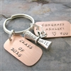 Personalized Class of 2016 Graduation Key Chain