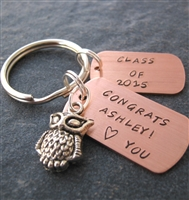 Personalized Class of 2015 Graduation Key Chain