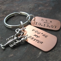 Personalized You're My Lobster Key Chain