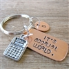 It's Accrual World Keychain, Accountant Gift