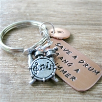 Save a Drum Bang a Drummer Key chain