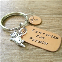 Certified Cat Person Key Chain for Cat Lovers