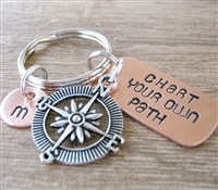 Compass Key Chain, Chart Your Own Path