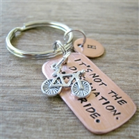 It's Not the Destination, It's the Ride Key Chain, Bicycle Charm