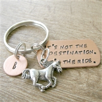 Horse Riding Keychain, It's Not the Destination, It's the Ride
