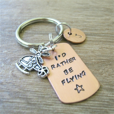 Helicopter Key Chain, I'd Rather Be Flying