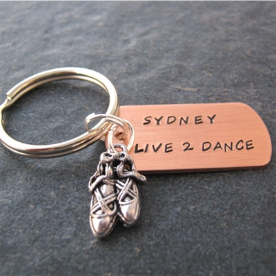 Personalized Dance Key Chain, Live 2 Dance