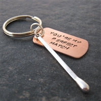 You're My Perfect Match Key Chain, matchstick charm
