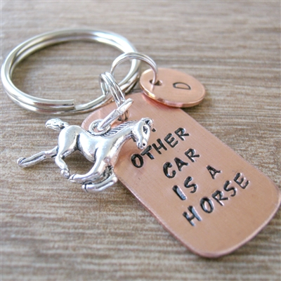Horse Riding Key Chain, My Other Car is a Horse