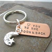 Love You to the Moon & Back Key Chain, a sweet sentiment