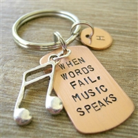 When Words Fails, Music Speaks Key Chain