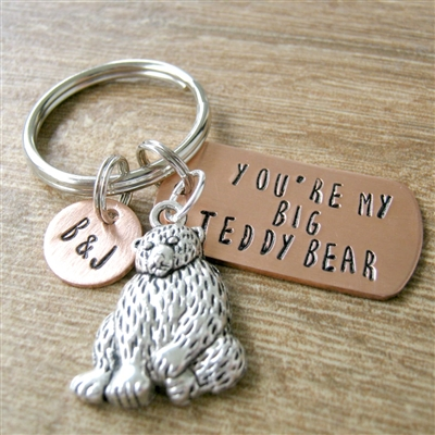You're My Big Teddy Bear Keychain
